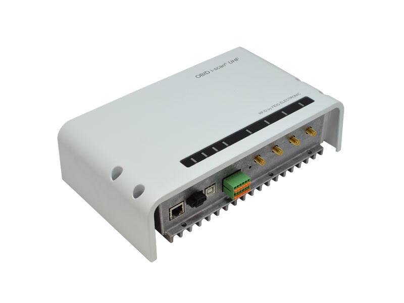 Lector UHF industrial de largo alcance con comunicaciones Ethernet.