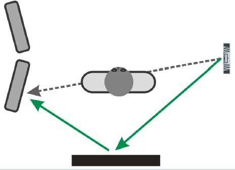 Rebote de un tag UHF en pasillo identificación personas