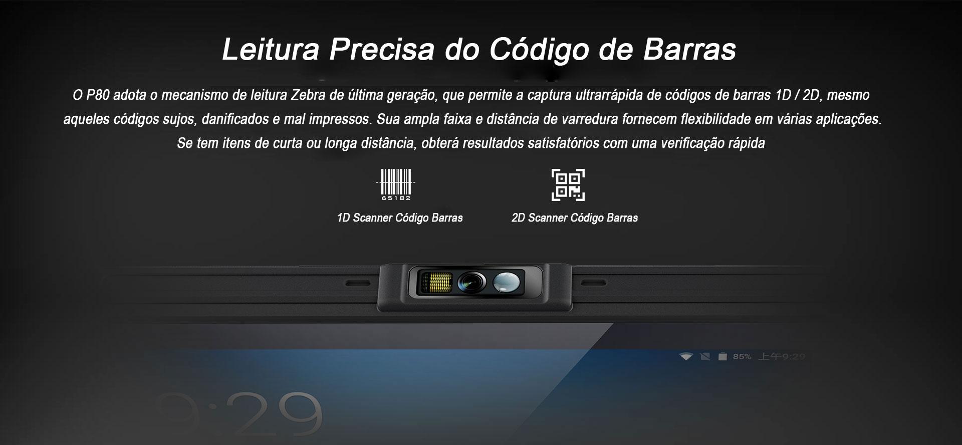 Tablet Industrial P80 Chainway Android Codigo do Barras
