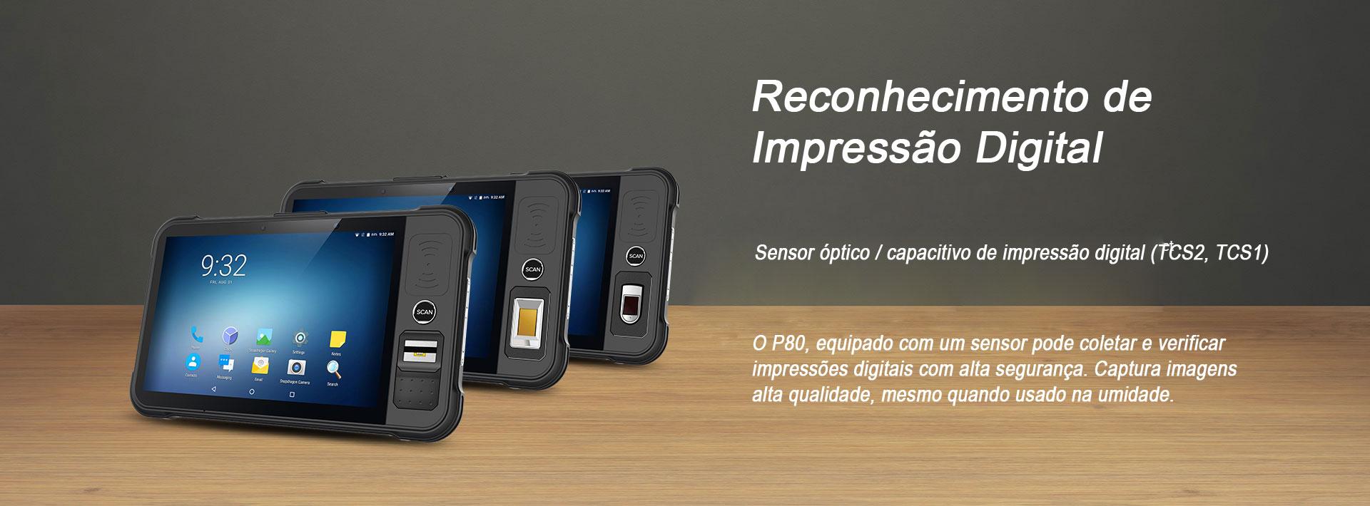 Tablet Industrial P80 impressao digital