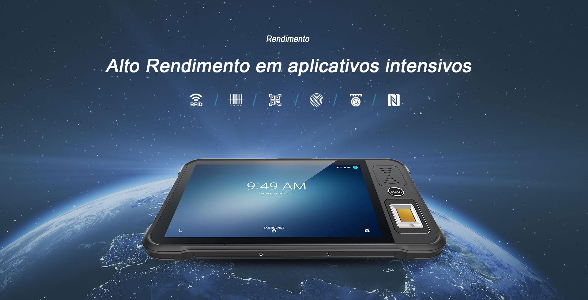 Tablet Industrial P80 Chainway Rendimento
