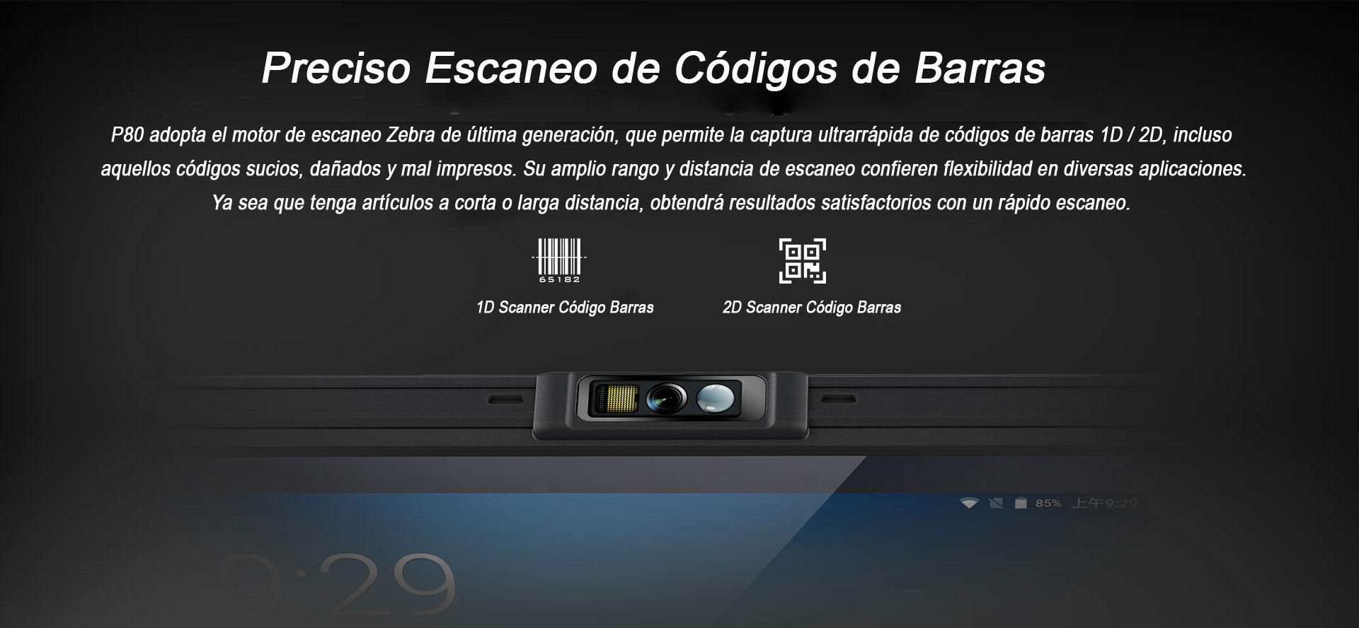 Tablet Industrial P80 código de barras
