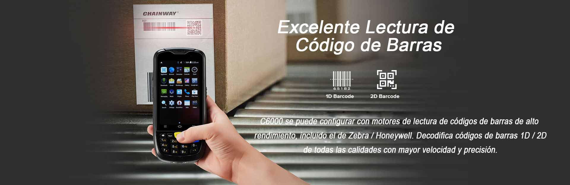 TERMINAL PORTATIL C6000  CODIGO BARRAS