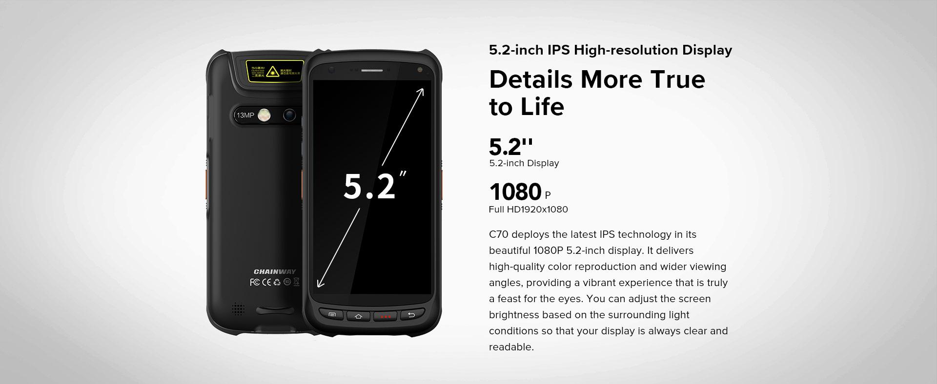 Handheld C70 Chainway Details