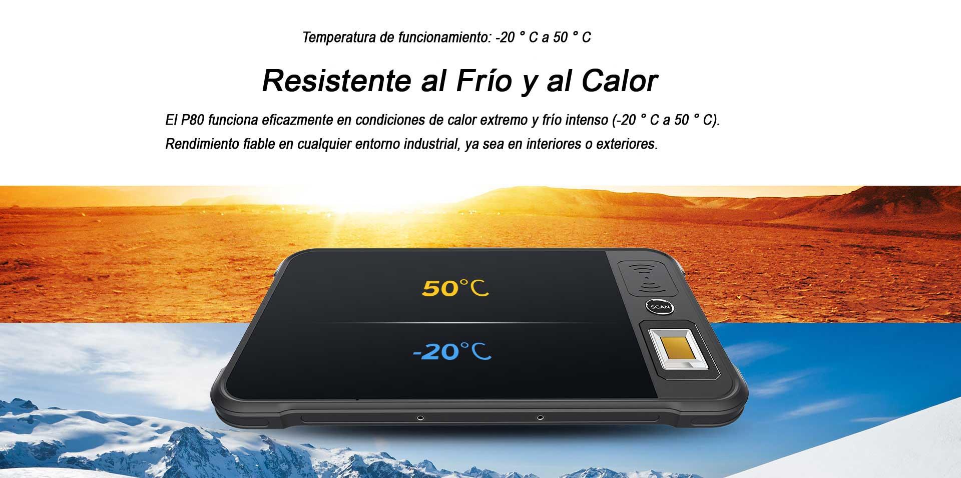 Tablet P80 Chainway Resistente al Frío y al Calor