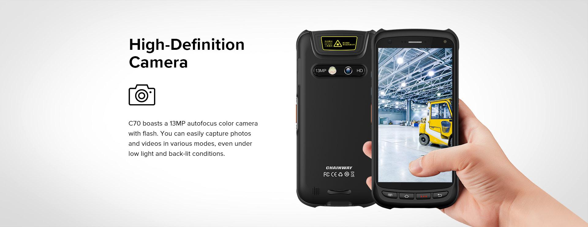 Handheld C70 Chainway High Definition camera