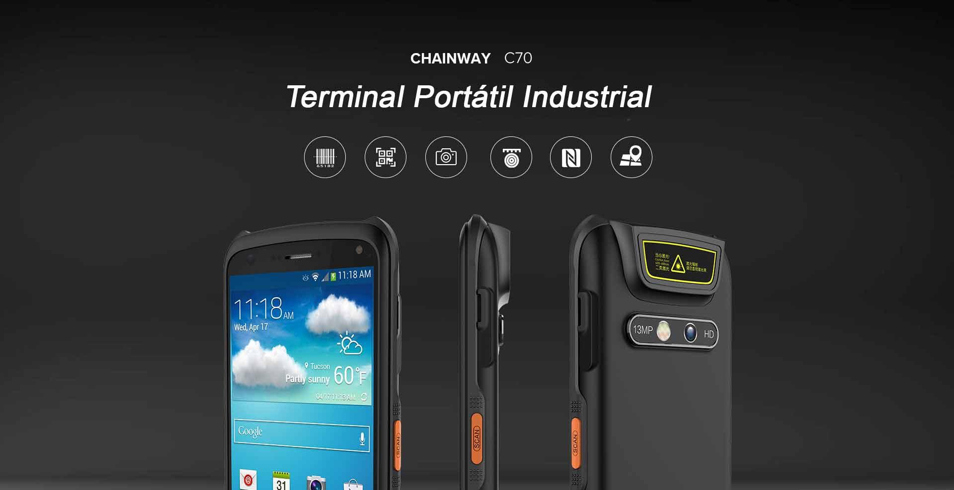 TERMINAL PORTATIL INDUSTRIAL  C70 CHAINWAY CON TERMOMETRO