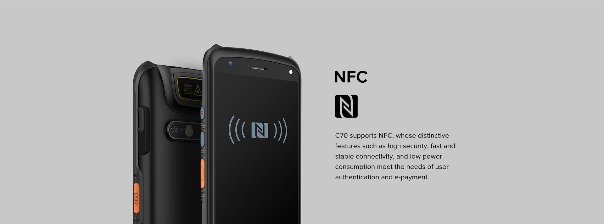 Handheld C70 Chainway NFC