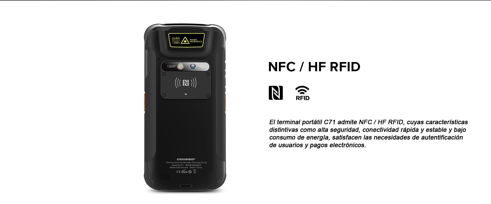 Terminal Portatil C71 CHAINWAY NFC