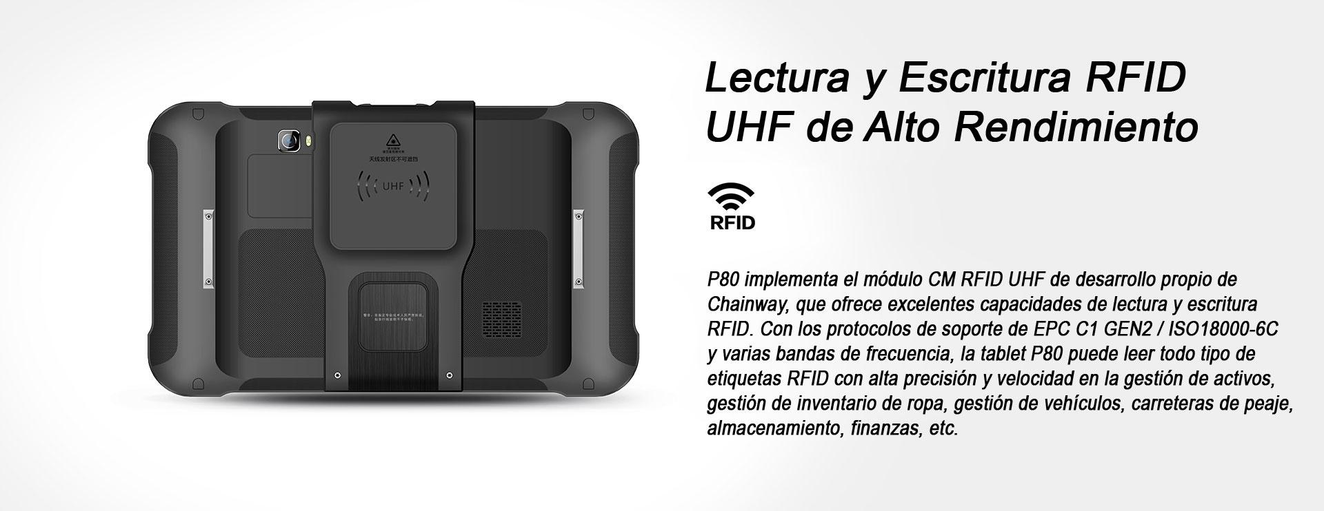 TABLET INDUSTRIAL P80 RFID UHF CHAINWAY