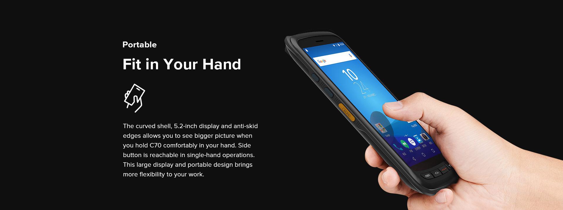 Handheld C70 Chainway High ergonomic Design