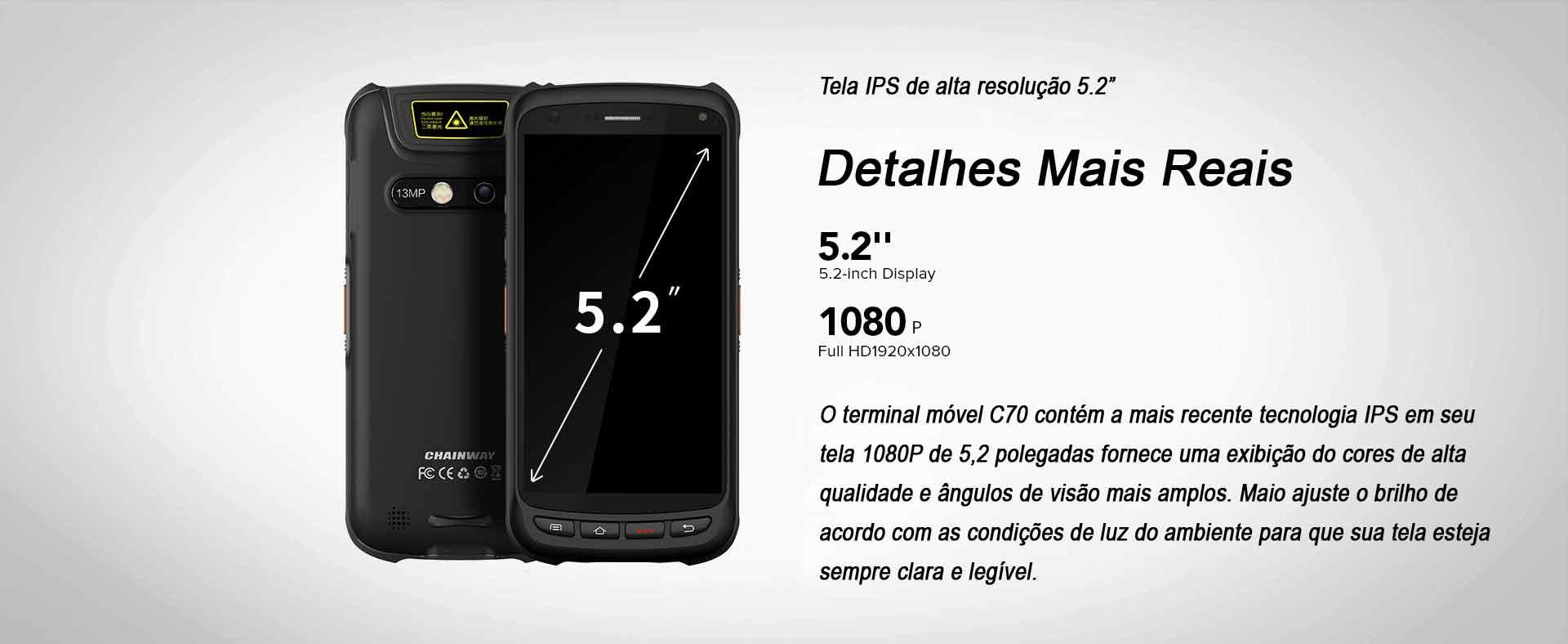 Terminal Móveis C70 Chainway Android