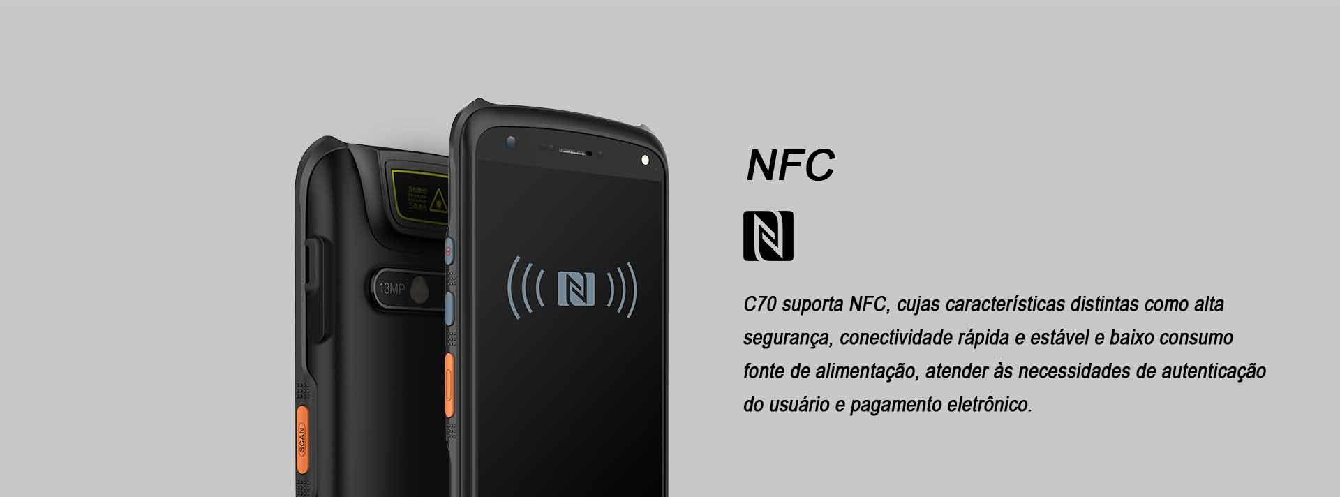 Terminal Móvel C70 Chainway Android NFC